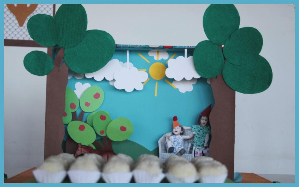 Diorama: Festa da floresta da Yara e do Jorge
