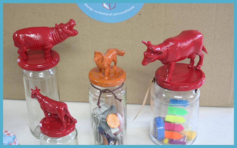 Festejo in Box: Reuso (vidros para colocar objectos)
